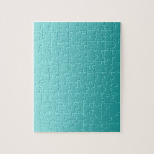 Celeste to Teal Vertical Gradient Jigsaw Puzzle
