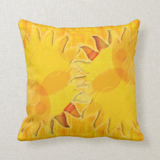 Celestial Abstract Sun Throw Pillow