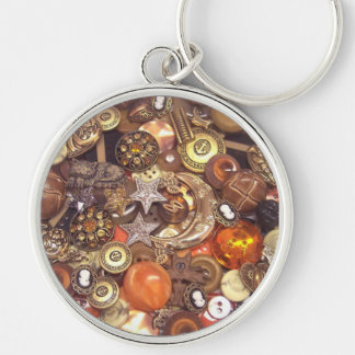 Celestial Amber Buttons Keychain