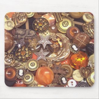 Celestial Amber Buttons mousepad
