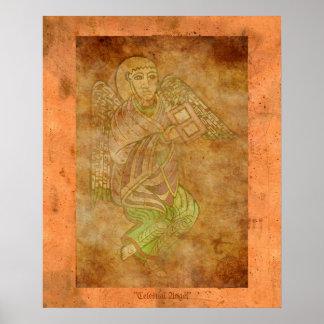 Celestial Angel Medieval Religious Art Print
