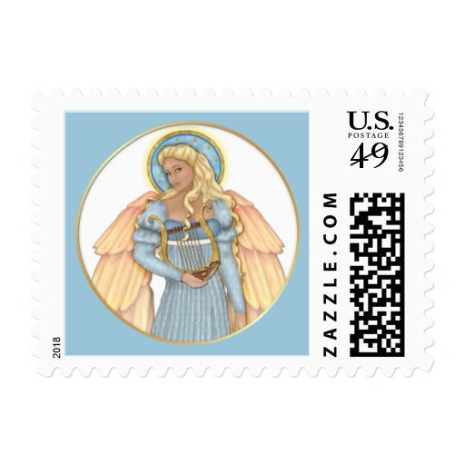 Celestial Angel Postage Stamps
