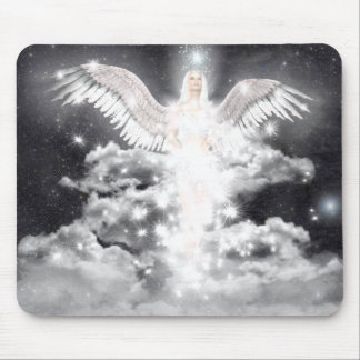 Celestial Angel White Mouse Pad
