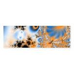 Celestial · Arte del fractal · Azul y naranja Plantilla De Tarjeta De Negocio