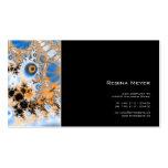 Celestial · Arte del fractal · Azul y naranja Tarjetas De Visita