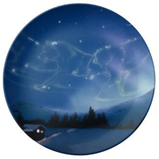 Celestial Aurora Porcelain Plate