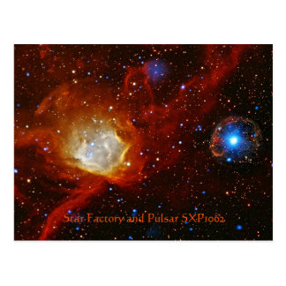 Celestial Bauble - Nebula N90 and Pulsar SXP1062 Postcard