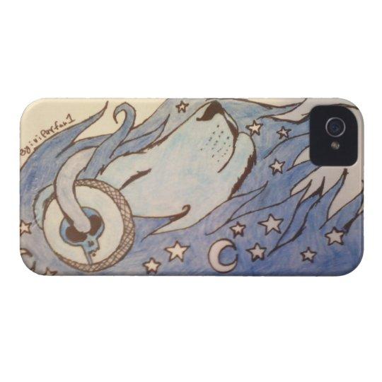 celestial blue lion iphone 4 case