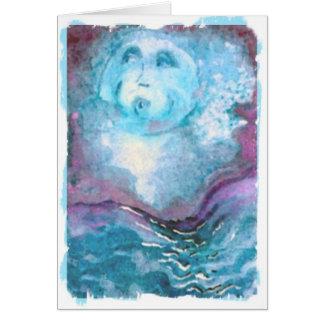 Celestial Blue Moon friend Card