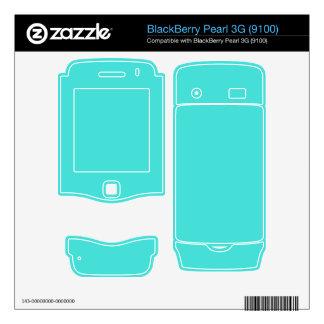 CELESTIAL BLUE (solid color) ~ BlackBerry Pearl 3G Skins