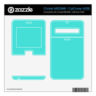 CELESTIAL BLUE (solid color) ~ Cricket MSGM8 Decal