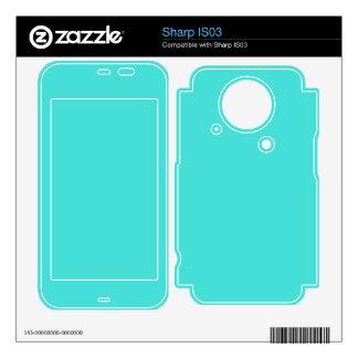 CELESTIAL BLUE (solid color) ~ Sharp IS03 Skins