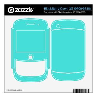 CELESTIAL BLUE (solid color) ~ BlackBerry Curve Skins