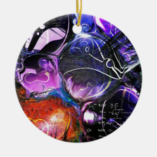 Celestial Bodies Double-Sided Ceramic Round Christmas Ornament