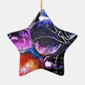 Celestial Bodies Double-Sided Star Ceramic Christmas Ornament