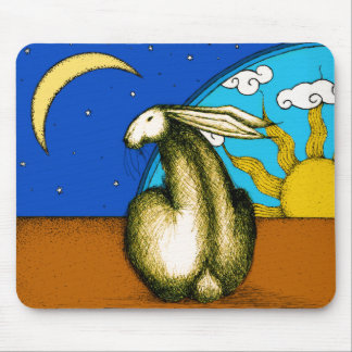 CELESTIAL BUNNY MOUSE PAD