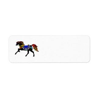 Celestial Carousel Horse Return Address Label