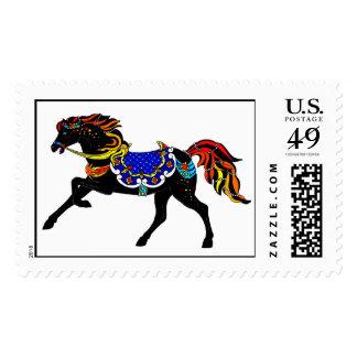Celestial Carousel Horse Stamp
