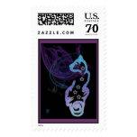 celestial cat2 postage stamp