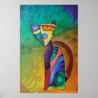 Celestial Cat Poster