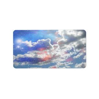Celestial Clouds Address Label