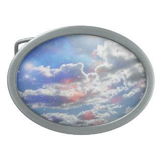 Celestial Clouds Belt Buckle