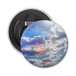 Celestial Clouds Button Bottle Opener