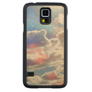 Celestial Clouds Carved® Maple Galaxy S5 Case