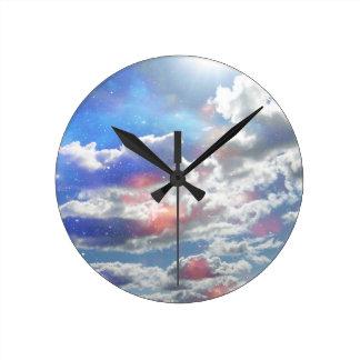 Celestial Clouds Clock