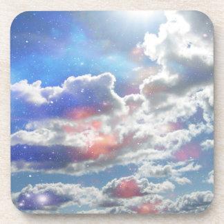 Celestial Clouds Cork Coasters