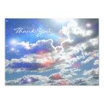 """Celestial Clouds Invite 5"""" X 7"""" Invitation Card"""