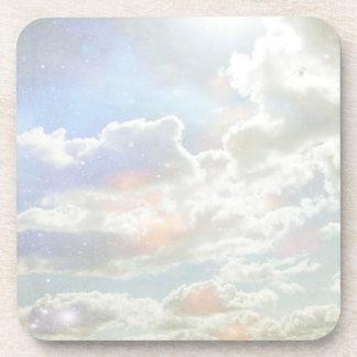 Celestial Clouds Light Cork Coasters