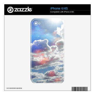 Celestial Clouds Phone Skin. Skin For iPhone 4