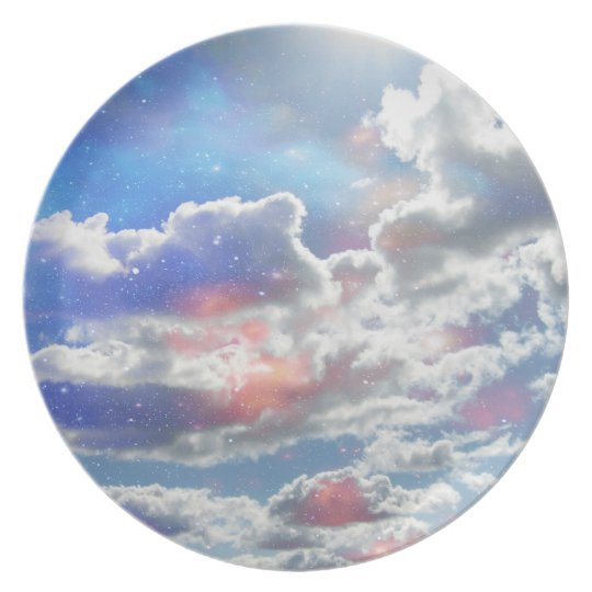 Celestial Clouds Plate