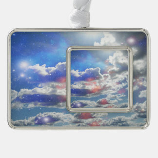 Celestial Clouds Silver Plated Framed Ornament
