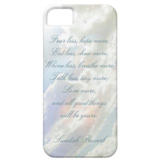 Celestial Clouds, Swedish Proverb iPhone 5 Case