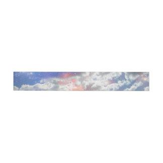 Celestial Clouds Wrap Around Address Label