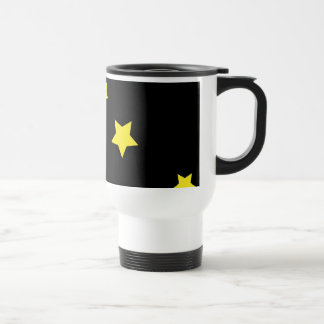 Celestial Crescent Moon and Stars Travel Mug