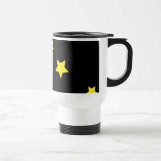 Celestial Crescent Moon and Stars Travel Mug