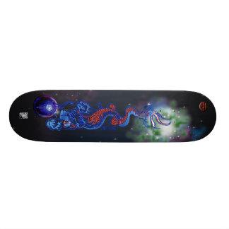 celestial dragon skate board deck