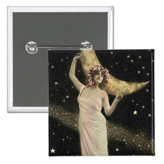 Celestial Drama Queen 2 Inch Square Button