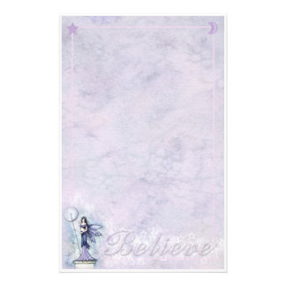 Celestial Fairy Moon Stars 'Believe' Stationary Stationery