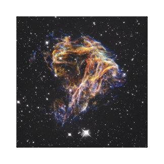 Celestial fireworks canvas print