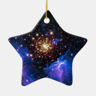 Celestial Fireworks Ceramic Ornament