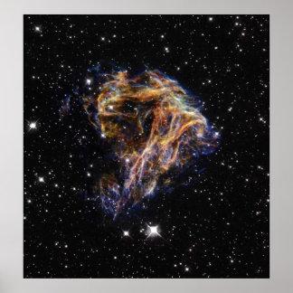 Celestial Fireworks Poster