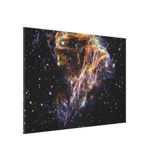 Celestial Fireworks- Sheets of Debris From a Stell Canvas Print