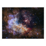 Celestial Fireworks - Westerlund 2 Poster