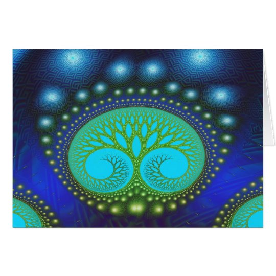 Celestial Forest Nature Pattern Abstract Art Card