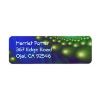 Celestial Forest Nature Pattern Abstract Art Label
