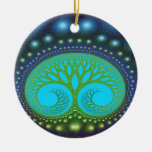 Celestial Forest Nature Pattern Abstract Art Christmas Tree Ornament